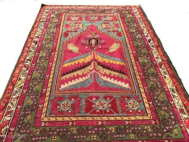 antique anatolian  prayer  mcur  rug cm 1.60 x 1.12  1880 /1890 circa