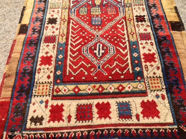 ANTIQUE PERSIAN  Sarab runner  NATURAL  COLORS  ORIGINAL SIZE  CM 3.00 X 1.15