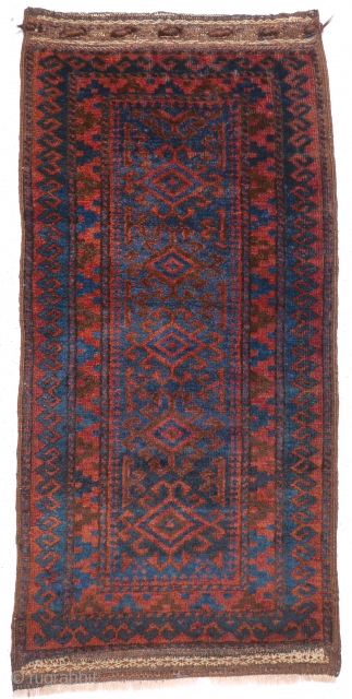 # 1110 Baluch (Taimani?) Balisht Front, 55/117 cm, West Afghanistan, 1st quarter 20th century, outstanding wool and natural dyes, in good condition!