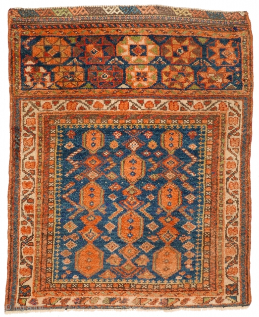 # 1116 Rare Kurdish Khorjin Front, 65/82 cm, Varamin area, early 20th century, rare design, additional panel with eight-pointed stars! For a complete overview of our Autumn Exhibition 2017 please look at  ...