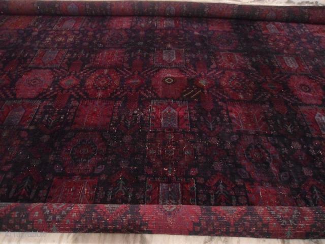 Antique Agra Large Carpet 15'x20' Short pile, at some places restorations/repairs done.