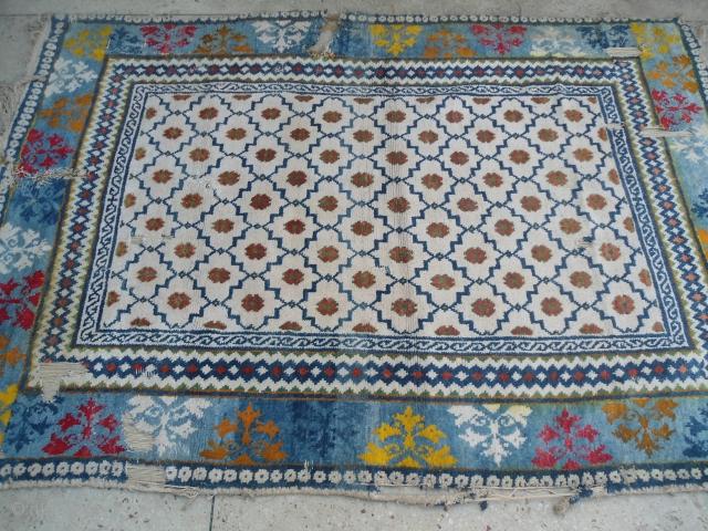 CIRCA 1920s Agra cotton rug , India