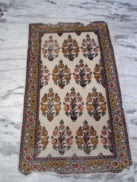 Antique Agra/ kashmir rug