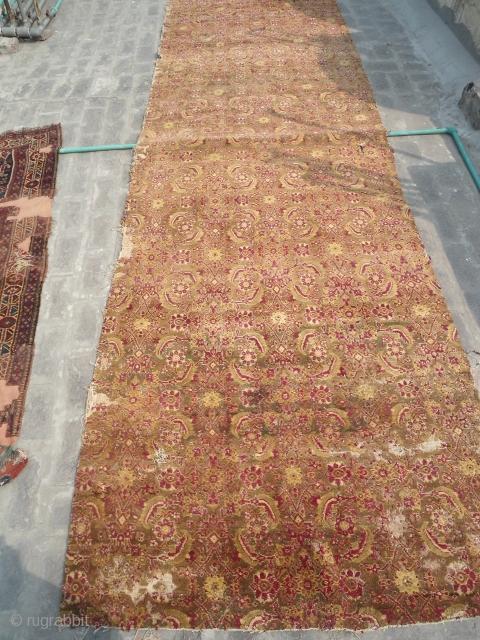 antique Agra fragment runner 4 ft x 13 ft