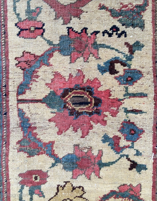 Persian Fragmand rug,mid 18th century This edge of the carpet Size 203x107cm