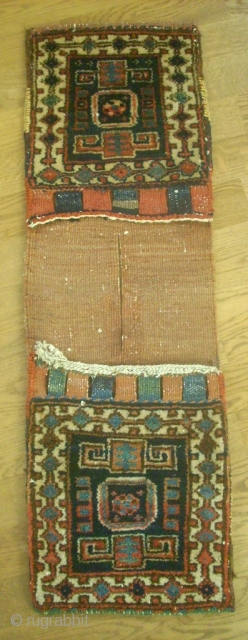 Special small persian - kurdish Khordjin. Size: 28 x 88 cm. Very good condition. Perfect colors.
