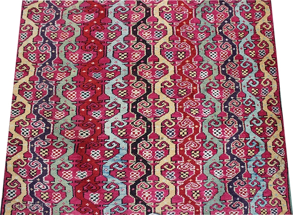 Mucur antique carpet.Over 140 years old.pure wool.440x110 cm. central turkey