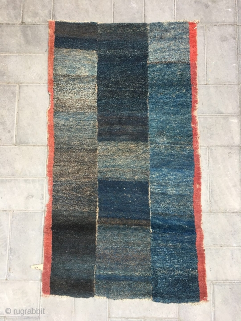 Tibetan rug, very nice nature color cutting, tightly row knots. Original one no any repair. Only one red salvage have a little missing.very good age.Size 125*68cm