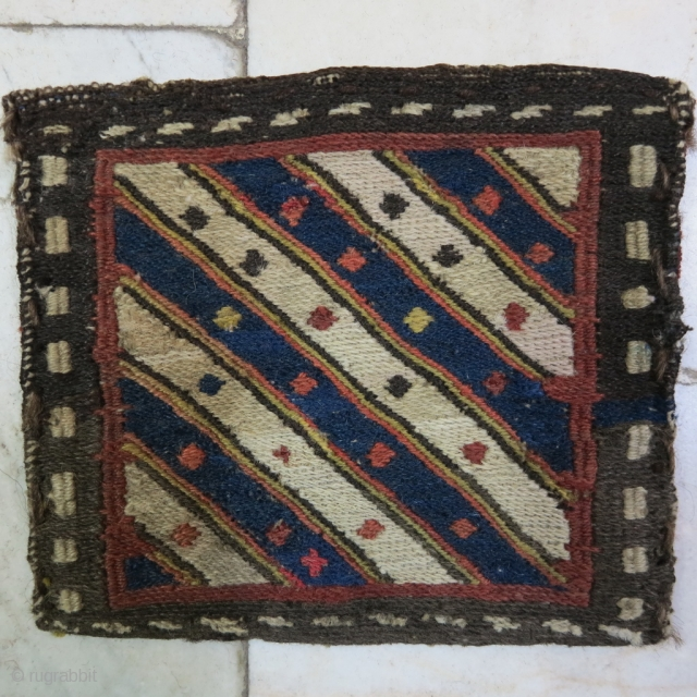 Shahsavan Chanteh Soumak Wool on Wool Age: about 100 years Natural Color 