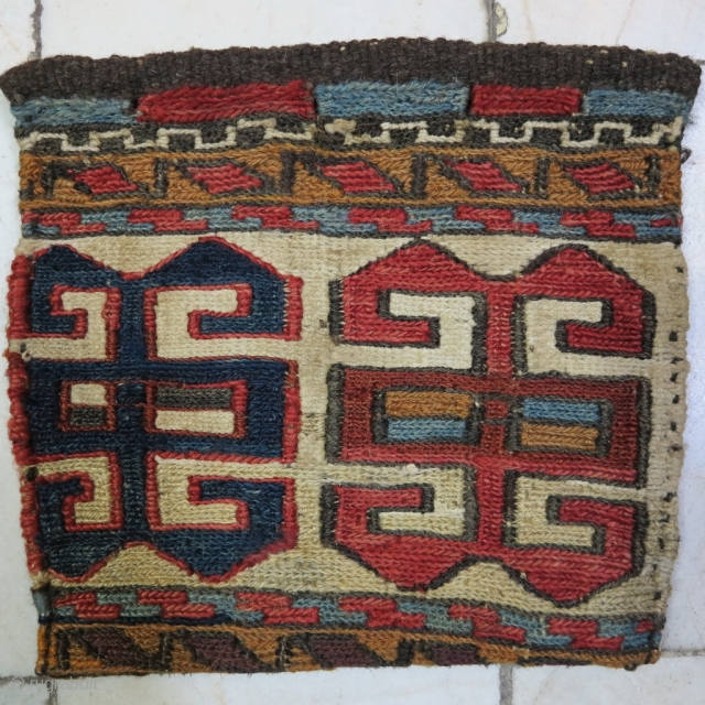 Saveh Shahsavan Chanteh technique soumac wool on wool natural color age: about 110 years size:20 x 22 price: POR