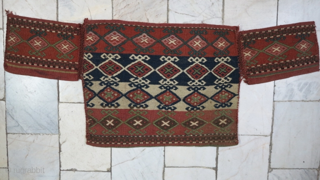 Shahsavan Ghashogh dan (Spoon bag) technique ladi wool on wool age: about 90 years natural color size:35 x 87 price:POR