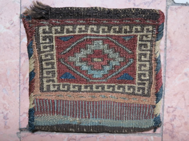 A very old Shahsavan small Chanteh sumac size: 17 x 17 cm price:POR