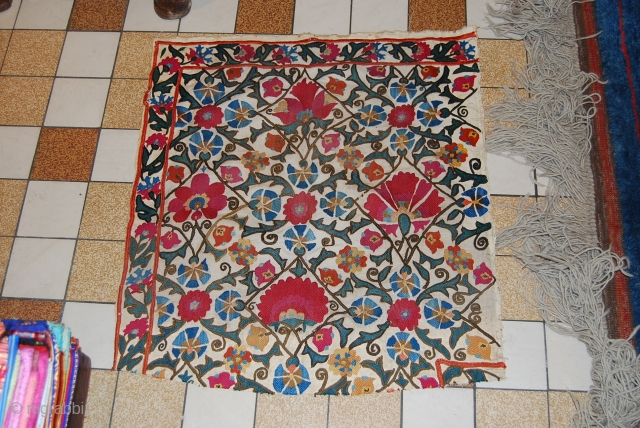 a beautiful piece of uzbek sozani. the size is 56 x 60cm.