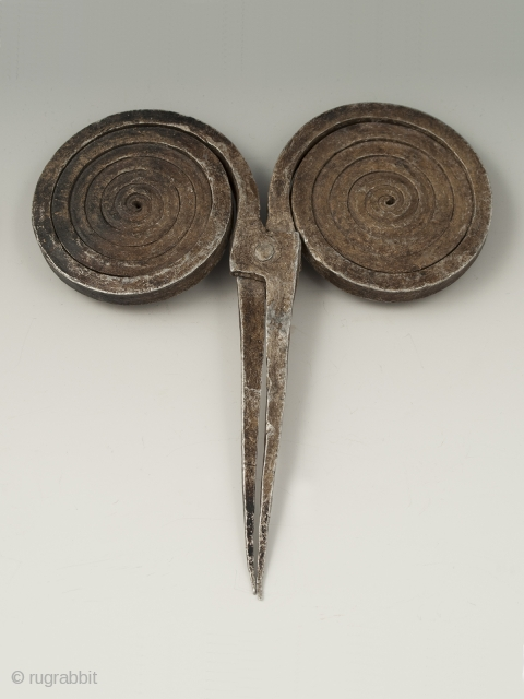 "Aluminum Hairpin, Himachal Pradesh, Northern India. 6"" (15.2 cm) high by 5.5"" (14 cm) wide. Mid 20th century"