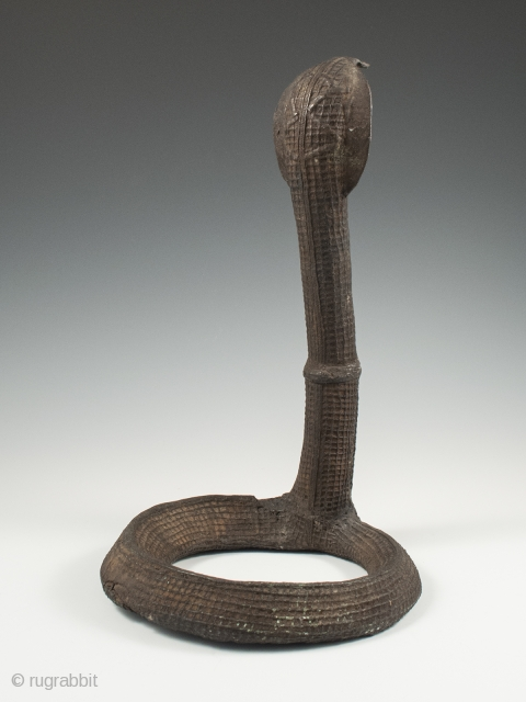 """Clan emblem in the form of a cobra, Kondh people, Orissa, Central India. Copper alloy. 11.5"""" (29 cm) high. Late 19th century. Illustrated in """"Bronze Sculptures of the Kondh"""" by Barbara C.  ..."""