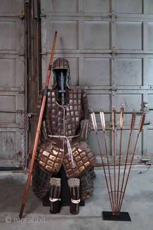 Antique Japanese Tatami Gurata Gusoku