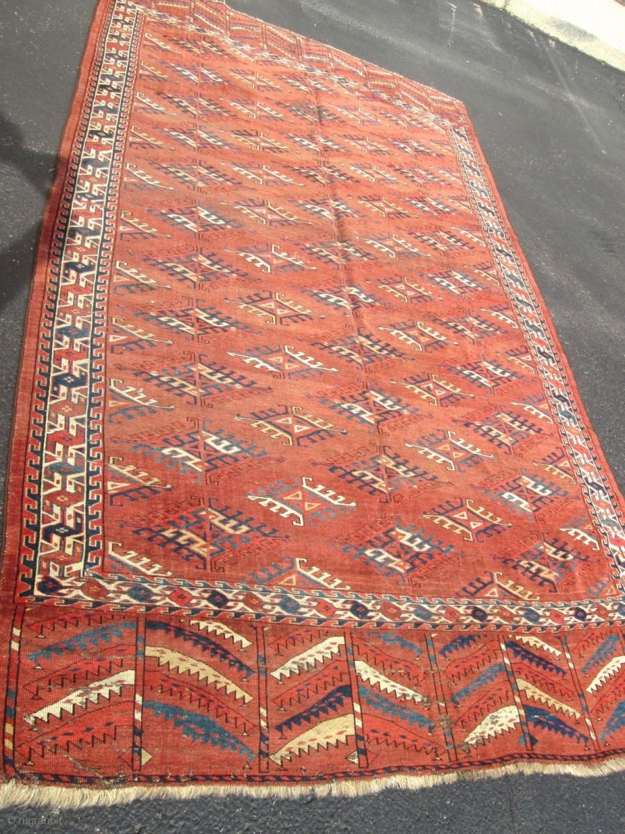 19th Century Yomud Turkoman Rug Size 5 3 X9 3
