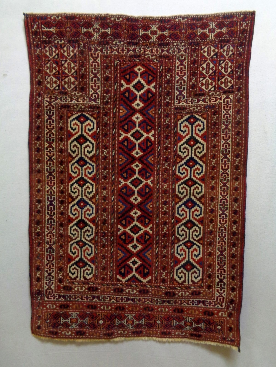 Turkmen Prayer Rug Size 86x127cm Natural Colors Made In