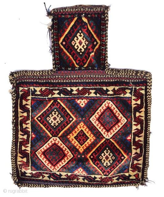 A PERSIAN, KURDISH SALT BAG, The Central Panel With Five