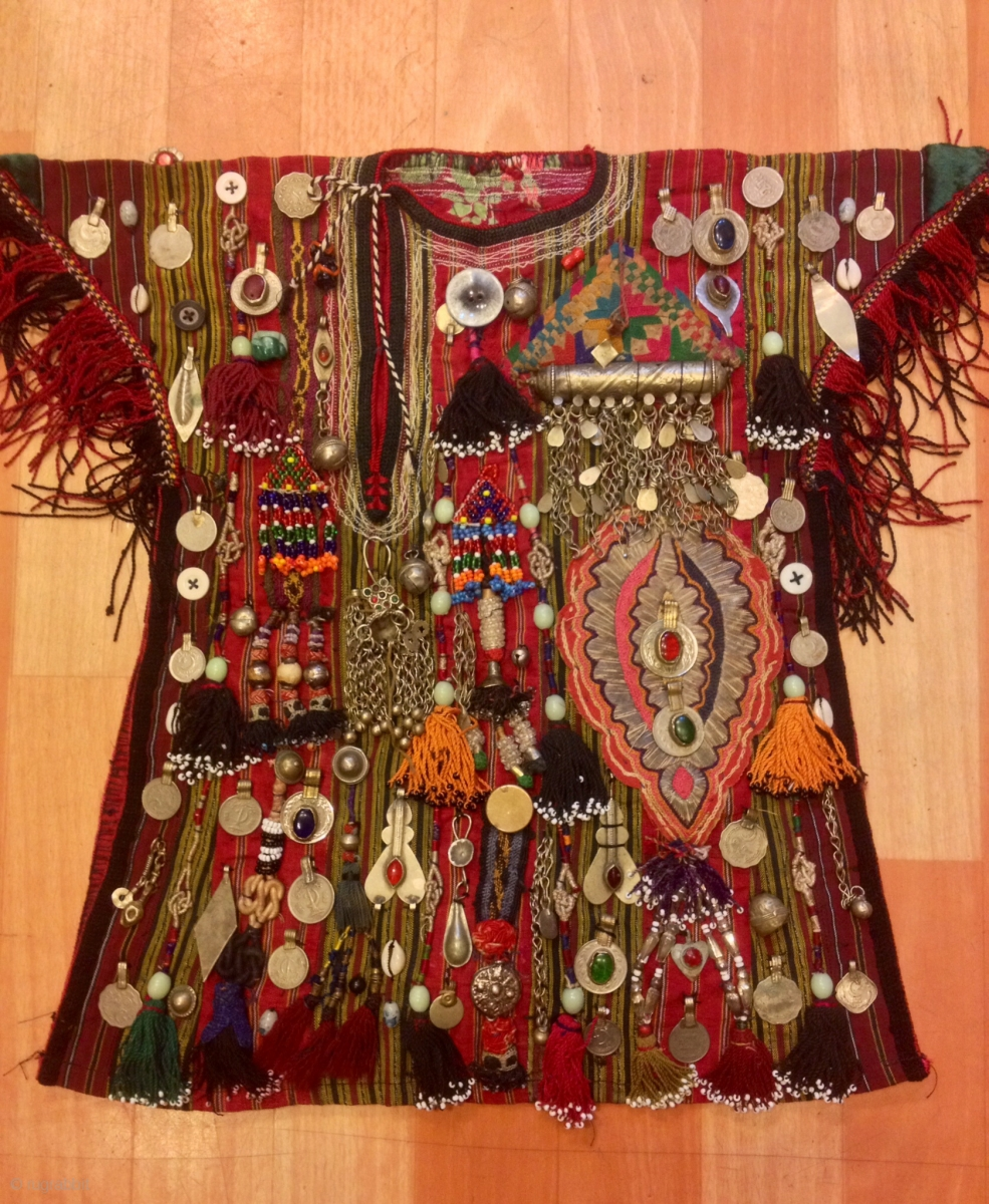 Vintage Turkmen Baby Kids Dress Clothes Costume Ethnic And