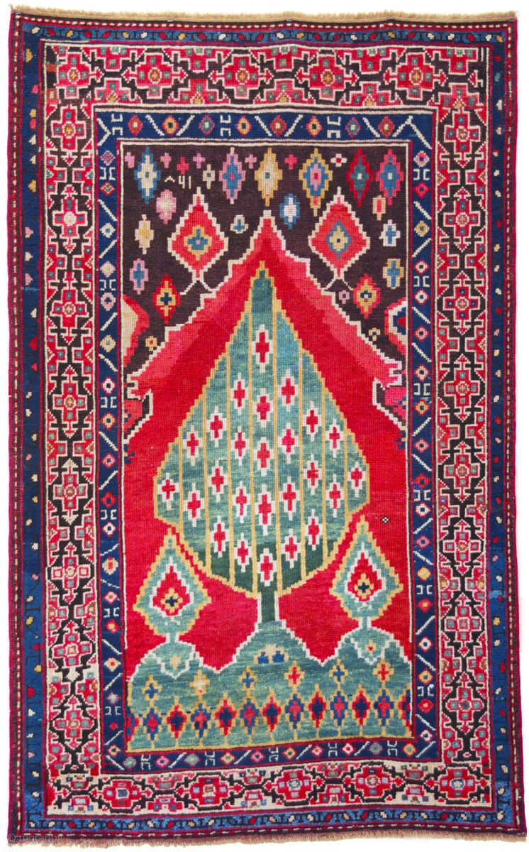 Karabagh Tree Of Life Prayer Rug Southeast Caucasus Dated