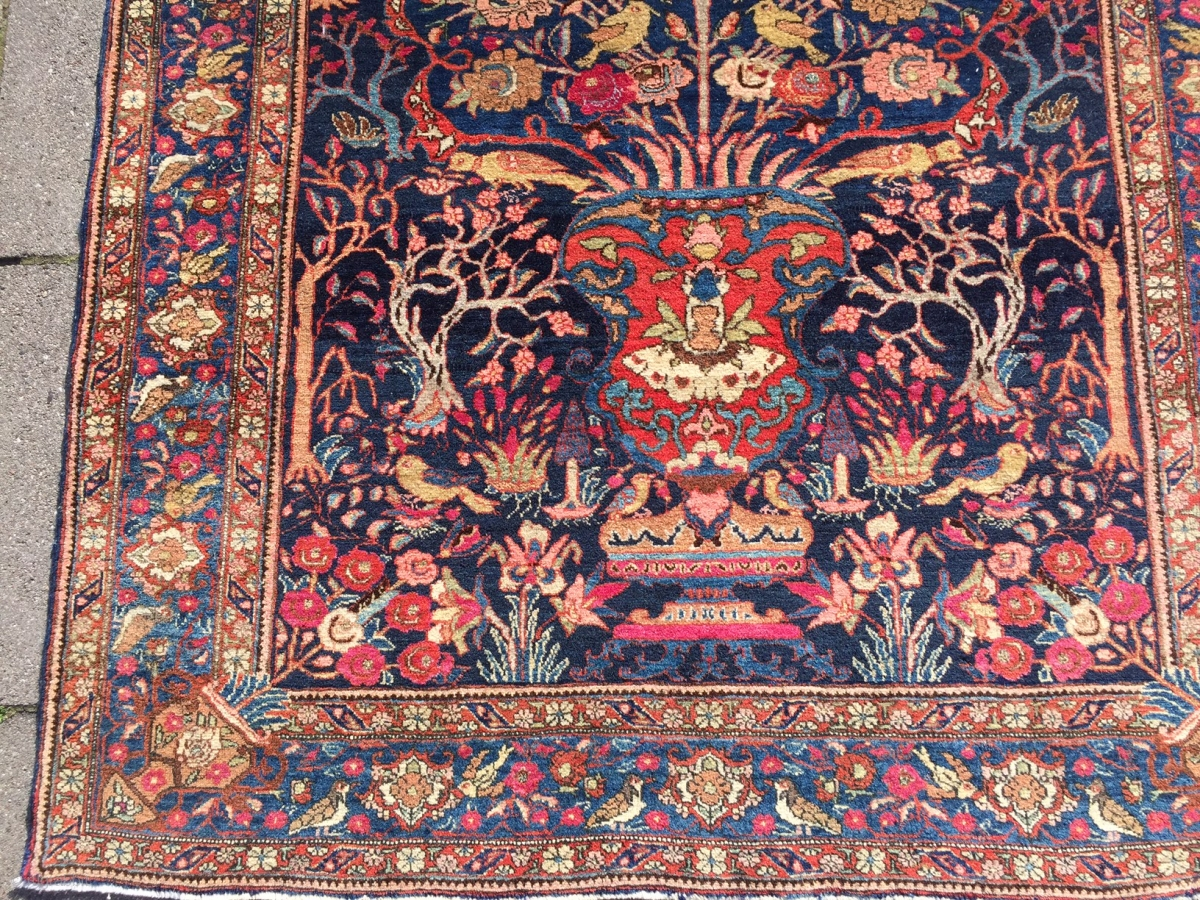 Fine Bakthiary Tree Of Life Rug Displaying The Garden Of