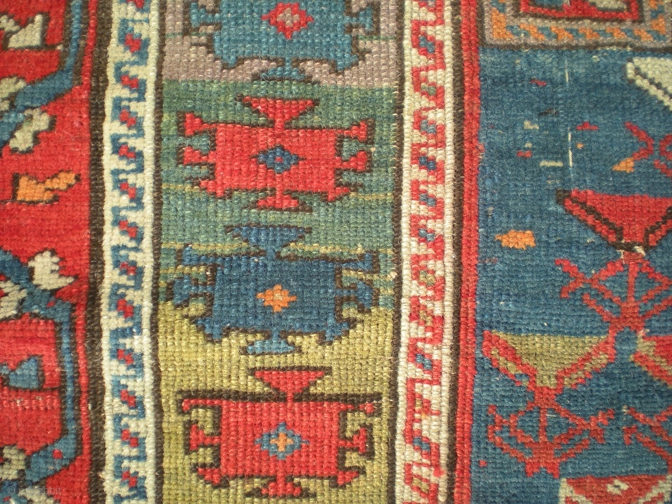 Caucasian Prayer Rug Late 19th Early 20th Century Size