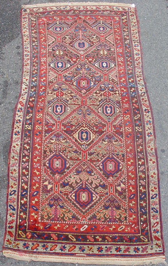 Northwest Persian Kurdish Long Rug With Classic