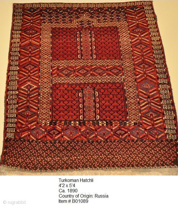 Turkoman Hatchli 4.02 X 5.04 Ca. 1890 Country Of Origin