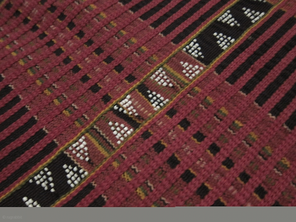 Laos Katu Loincloth Cotton With Supplementay Weft And