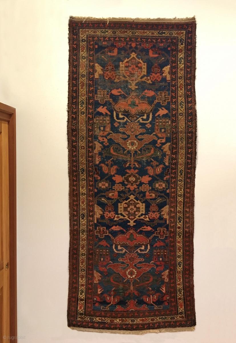 Antique Bakhtiari Long Rug Last Quarter 19th Century