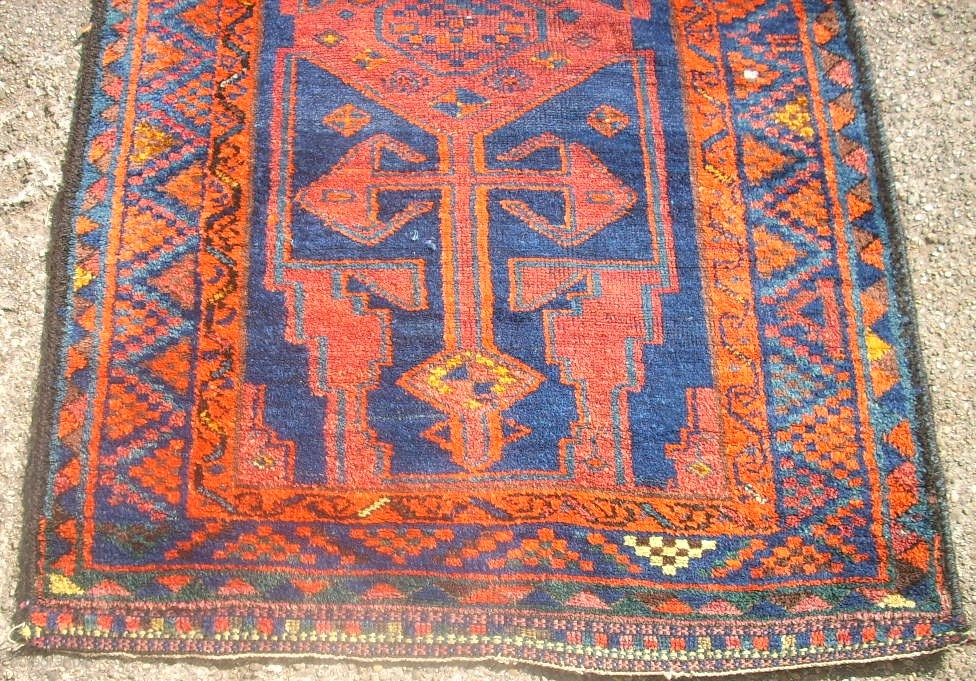 Antique Luri Long Rug Size 322 X 114 Cm Very Good