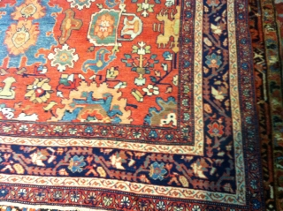"""Persian Mahal from 1900   size 12'1""""x 8 . great condition no pet stains no dry rot.  no repair needed. well kept."""
