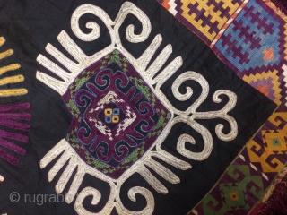 Lakai silk embroidery from uzbikistan best condition  . First 19 cn
