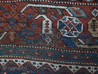 Nice old Qasghai (Iranian tribal) wool rug all natural dyes- small worn areas but in overall good condition. Circa early 20th century. l: 195cm/76in and w: 128cm/50in. Sale price I want to  ...