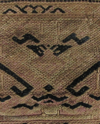 Tujia Baby Blanket: Exceptionally rare baby blanket from the Tujia weavers of Longshan County, Hunan Province, China. I have been looking for one of these for years and this is the first  ...