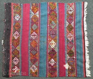 Antique Anatolian kilim fragment, 95x105 cm