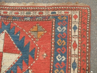 Antique Caucasian rug 128 x 230 cm