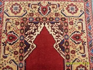 Antique Transilvanya Tuduk Prayer Carpet Perfect size: 195x130