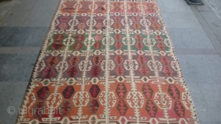 Antique Anatolian Cappadocia Kilim Great Colors and Old piece size 440x160