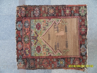 Antique Anatolian Karapinar Prayer Rug size. 112x100 cm.