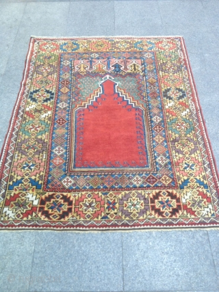 Antique Anatolian Mucur Carpet perfect Size 160x120