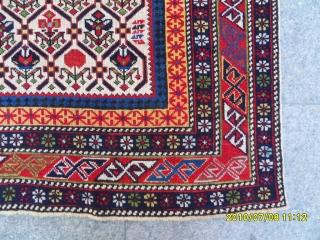 Antique Shirvan Marashali Prayer Carpet size: 170 x 130 cm.