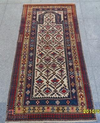 Antique Shirvan Marashali Prayer Carpet size:175 x 85 cm.