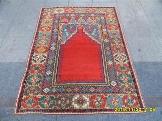 Antıque Anatolıan Kırşehir Mucur Prayer Carpet size: 165x125 cm.