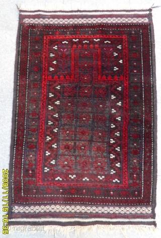 Antique Türkmen Baluch Prayer Carpet size: 122x85 cm
