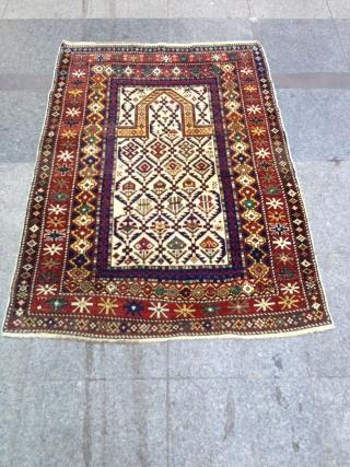 Antique Caucasıan Shirvan Marashali Carpet Prayer size 140x100