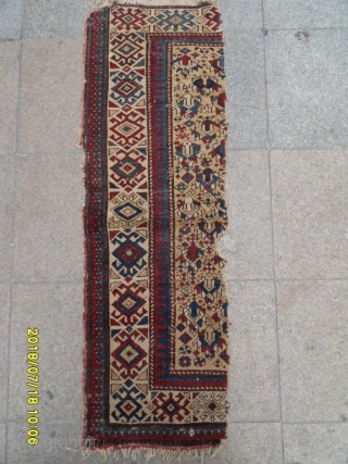 Antique Shirvan Fragment Carpet size: 137x45