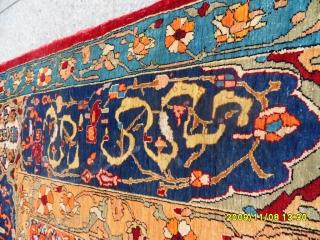 Antique Original Anatolian Hereke Silk Prayer Carpet With Silvers Metals size:145x110 cm.