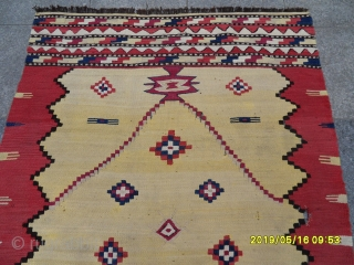 Antique Anatolian or Monastir Kilim size: 163x115